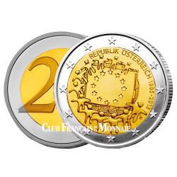 2 Euro Autriche 2015 - 30ème anniversaire du drapeau européen