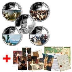 """Les 4 médailles + en cadeau le """"Kit Napoléon"""""""