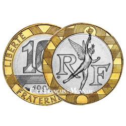 10 Francs Génie de la Bastille 1988-2000