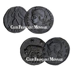 Coffret Monnaies de Rome et Constantinople