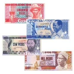4 Billets Guinée-Bissau 1990 - 1993