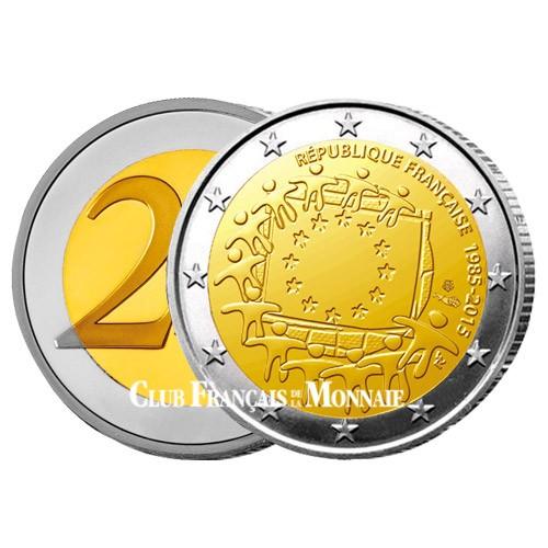 2 Euro France 2015 - 30ème anniversaire du drapeau européen