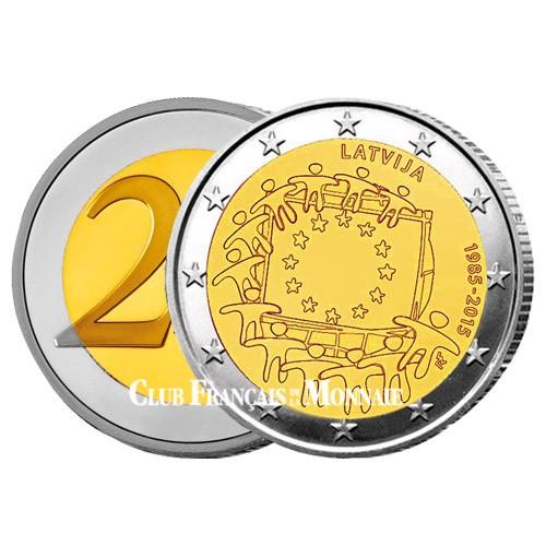 2 Euro Lettonie 2015 - 30ème anniversaire du drapeau européen