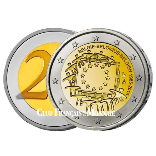 2 Euro Belgique BE 2015 - 30ème anniversaire du drapeau européen