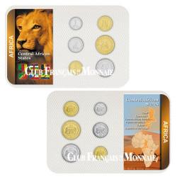 Série de 6 monnaies Afrique Centale