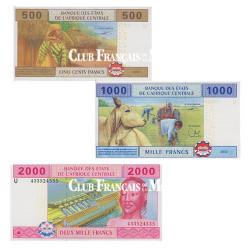 3 Billets Cameroun 2002