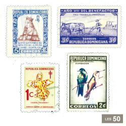 50 timbres République Dominicaine
