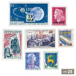 25 timbres Francs CFA