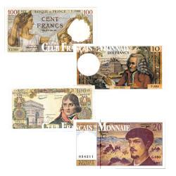 Lot de 4 Billets Français