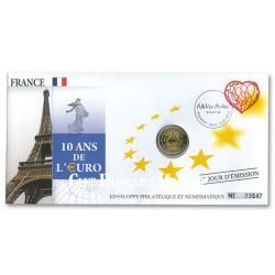 L'enveloppe 2 Euro France 2012 - 10 ans de l'Euro
