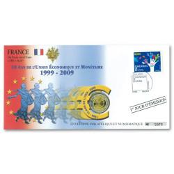 L'enveloppe 2 Euro France 2009 - 10 ans de l'Union Économique et Monétaire