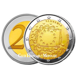 2 Euro Slovénie 2015 - 30ème anniversaire du drapeau européen