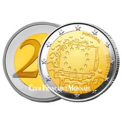 2 Euro Portugal 2015 - 30ème anniversaire du drapeau européen