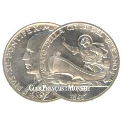 5 Lires Argent Vatican - Pie XII