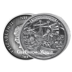 5 Dollars Argent Vasco de Gama 2016 - Arrivée aux Indes en 1498