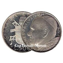 500 Lires Argent Vatican - Jean-Paul II