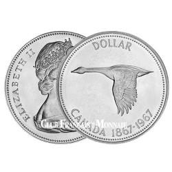 1 Dollar Argent Canada 1967 - Oie Sauvage