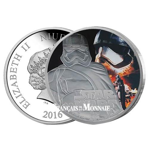 2 Dollars Argent BE 2016 - Star Wars Captain Phasma