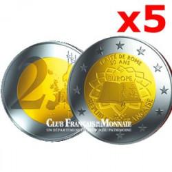 5 x 2 Euros commémorative 2007 50 ans du Traité de Rome France