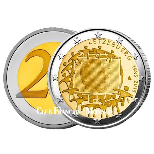 2 Euro Luxembourg 2015 - 30e anniversaire du  drapeau européen