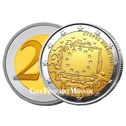2 Euro Chypre 2015 - 30ème anniversaire du  drapeau européen