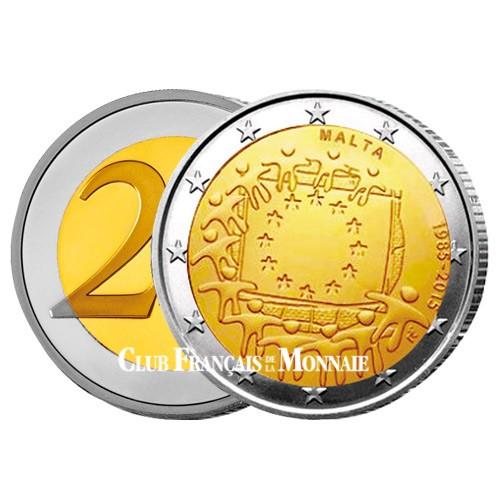 2 Euro Malte 2015 - 30ème anniversaire du drapeau européen