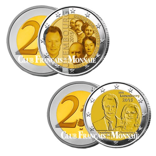 Lot des 2 x 2 Euro Luxembourg 2015