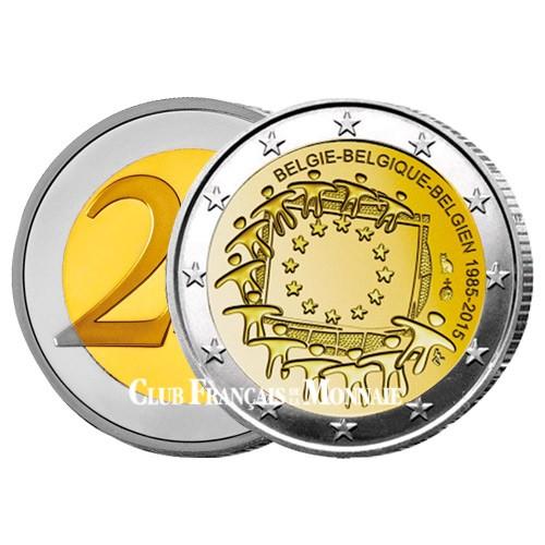 2 Euro Belgique 2015 - 30ème anniversaire du drapeau européen