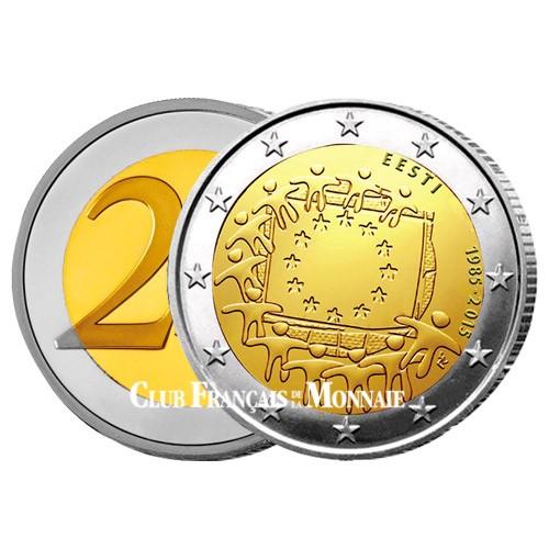 2 Euro Estonie 2015 - 30ème anniversaire du  drapeau européen