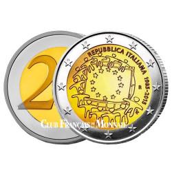 2 Euro Italie 2015 - 30ème anniversaire du  drapeau européen