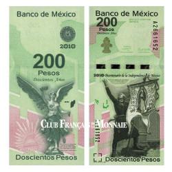 Billet 200 Pesos Libertad Mexique 2008 - 200ème anniversaire de l'indépendance