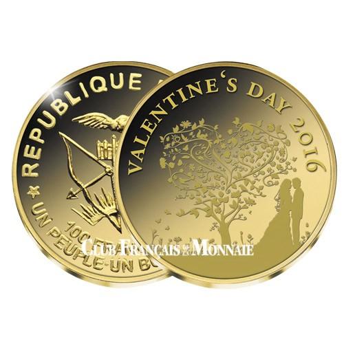 100 Francs CFA 2016 - Saint-Valentin