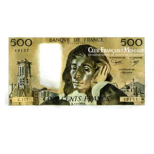 Billet 500 Francs Pascal