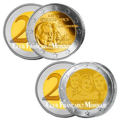 Lot 2 x 2 Euro Luxembourg 2012