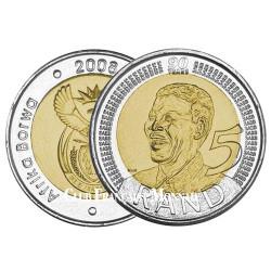 Pièce de 5 Rand Afrique du Sud 2008 - Nelson Mandela