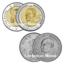 Lot 2 pièces Mandela et Gandhi