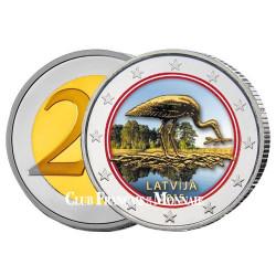 2 Euro Lettonie 2015 - Cigogne noire