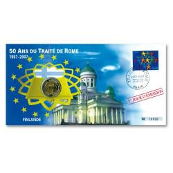 """Enveloppe """"1er Jour"""" d'émission 2 Euro Finlande 2007 - 50 ans du Traité de Rome"""