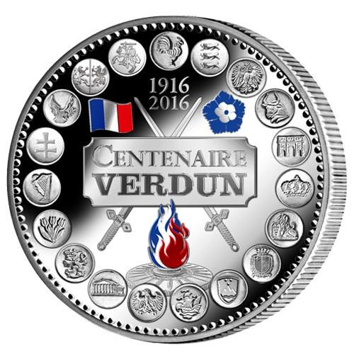 L'Euro du Centenaire de Verdun colorisé - Argent BE