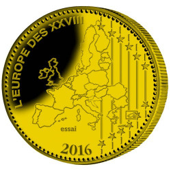 L'Euro du Centenaire de Verdun colorisé - Bronze BE