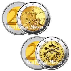 Lot des  2 x 2 Euro Vatican 2013