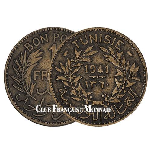 1 Franc Tunisie 1941-1945