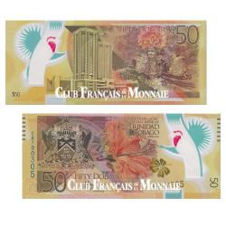 Billet de 50 Dollars polymère Trinidad et Tobago 2014