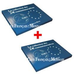 Lot de 2 Écrins pour 35 pièces de 2€ commémoratives