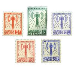 5 timbres de valeurs Francisque