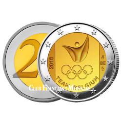 2 Euro Belgique BU 2016 - Jeux Olympiques - Rio de Janeiro