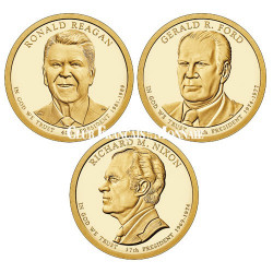 Set de 3 x1 Dollar USA BE 2016 - Présidents