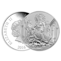 2 Dollars Argent BE 2016 Mythologie grecque - Gorgone