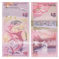 Billet de 5 Dollars Bermudes 2009