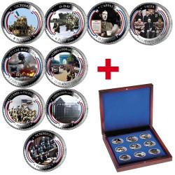 Coffret Médailles colorisées Seconde Guerre Mondiale